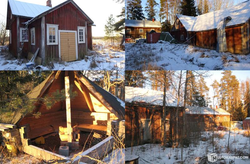Huutokaupat.com - Ulosmitatut maatilan rakennukset, kaksi asuinrakennusta ja varastoja, Ypäjä