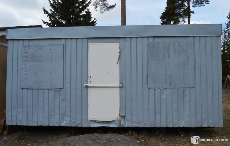 Huutokaupat.com - TYÖMAAKOPPI VAIHTOLAVAKISKOIN 5,85m x 2,5m x 2,6m TURUN NORMAALIKOULU (KOHDE 1), Turku